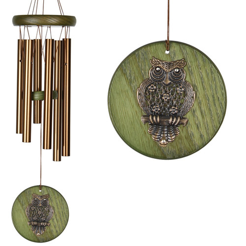 Woodstock Habitats™ Chime - Green, Owl