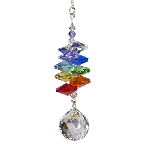 Crystal Rainbow Cascade Suncatcher  by Woodstock - BALL
