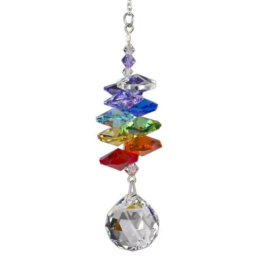 Crystal Rainbow Cascade Suncatcher  by Woodstock - BALL