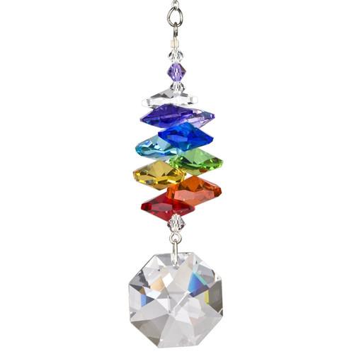 Crystal Rainbow Cascade Suncatcher  by Woodstock - Octagon