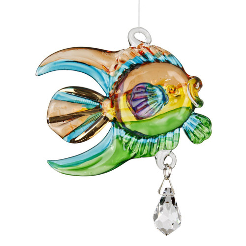 Fantasy Glass Suncatcher by Woodstock - Coral Fish, Tropical