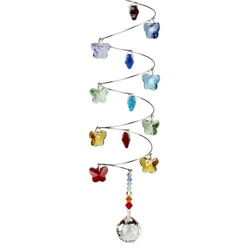Crystal Spiral - Rainbow Butterflies, Small Ball