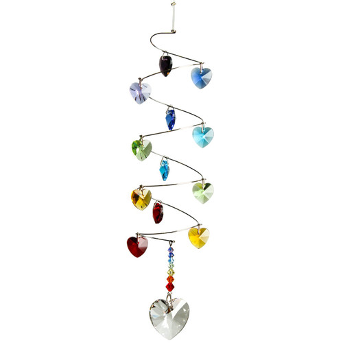 Crystal Spiral - Rainbow Hearts