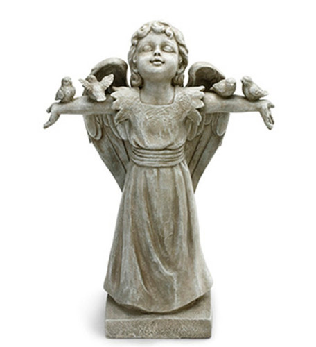 """18.5"""" Angel with Doves by Napco"""