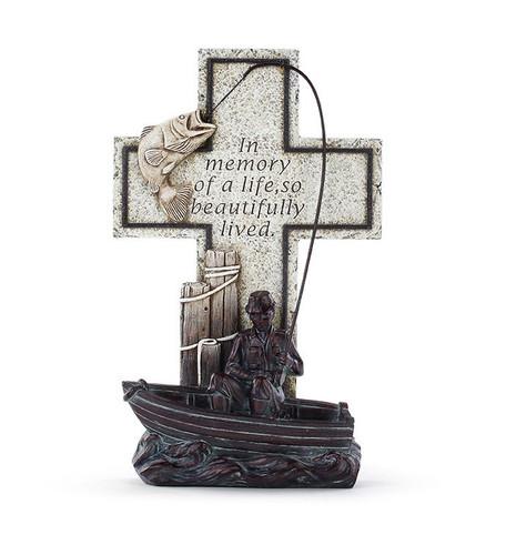 "11"" Bronze Fisherman Cross"