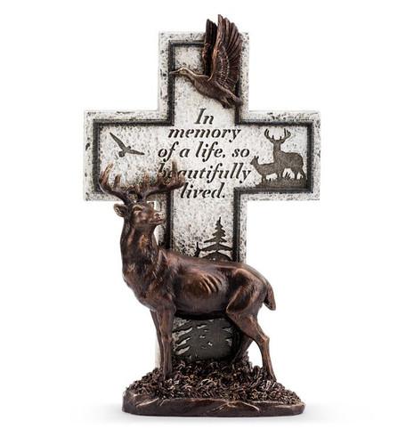 """11"""" Bronze Hunter/Deer Cross"""