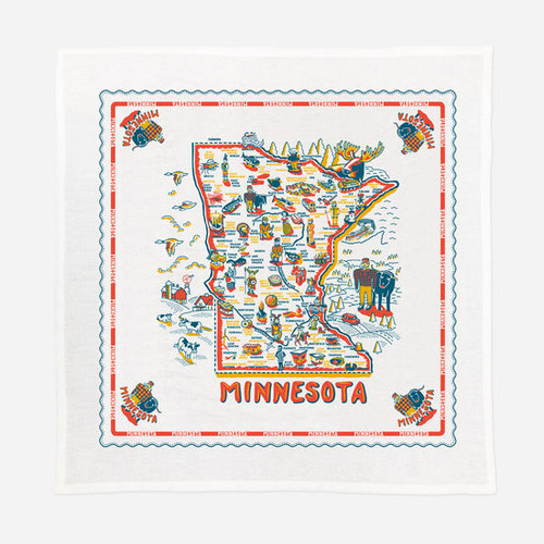 "52"" Sq. Minnesota ""Hot Dish"" Table Cloth"