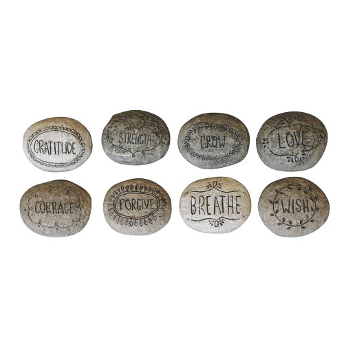 """2-3/4"""" Resin Inspirational Stone - Choose Verse by Creative Co-op"""