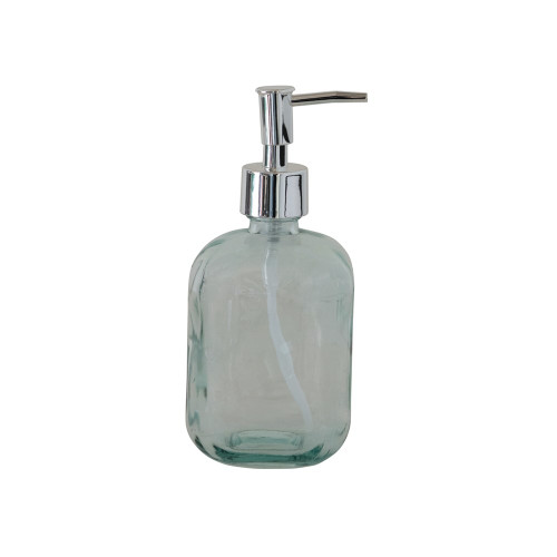 """7"""" Recycled Glass Soap Bottle with Pump"""