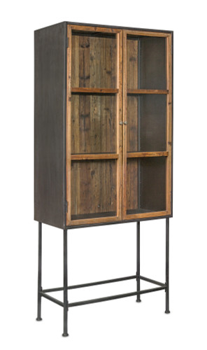 """Melrose Collection"" Wood & Iron Hutch -- DROPSHIP ONLY"
