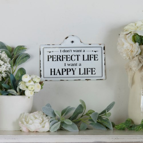 "10"" Metal ""Perfect Life"" Sign by VIP International"