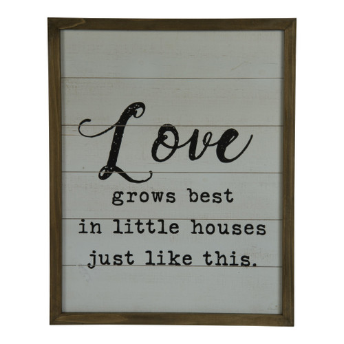 "20"" Wood Frame""Love Grows"" Sign by VIP International"