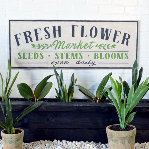 "40"" ""Fresh Flowers"" Metal Sign  by VIP International"