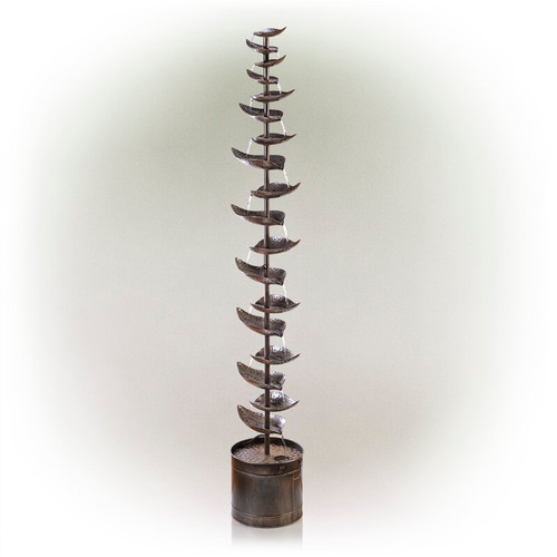 """Melrose Collection"" 62"" Bronze Leaf Indoor/Outdoor Fountain- Drop Ship Only"