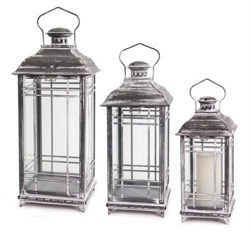 """Melrose Collection"" 20"" New England Style Lanterns Set of 3 ~ Drop Ship Only"