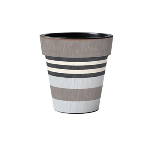 "Broad Stripes - Cape 12"" Art Planter  ~ Set of 2"