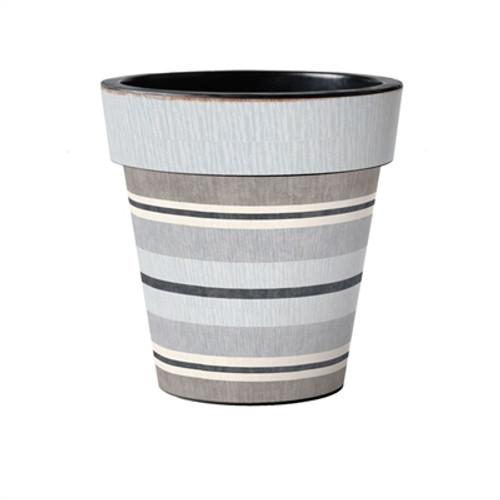 "Broad Stripes - Cape 15"" Art Planter  ~ Set of 2"