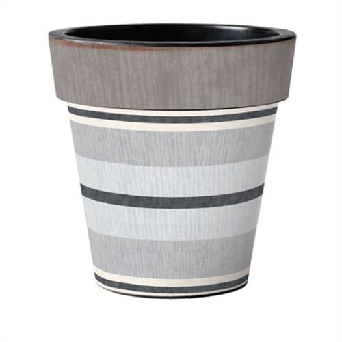 "Broad Stripes - Cape 18"" Art Planter  ~ Set of 2"