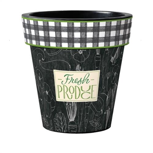 "Fresh Produce 18"" Art Planter  ~ Set of 2"