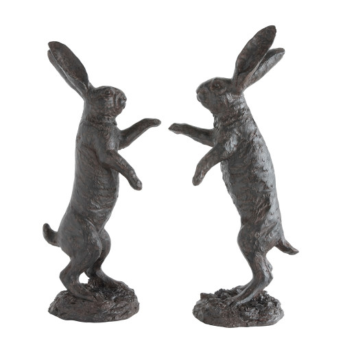 """24"""" Magnesia Bunny' Garden Statue ~ Set of 2 ~ by Creative Co-op"""