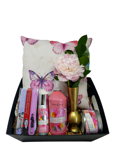 Obviously Pink Peony Gift Basket