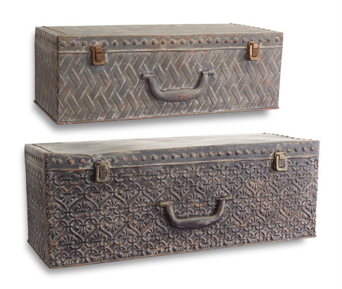 """Melrose Collection"" Suitcase Wall Shelf (Set of 2) ~  DROPSHIP ONLY"