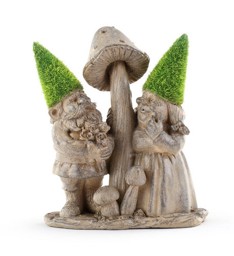 Gnome Couple with Mushrooms  by Napco