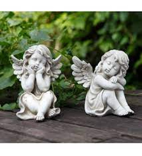 "8"" Small Cherubs - Set of 2_by Napco"