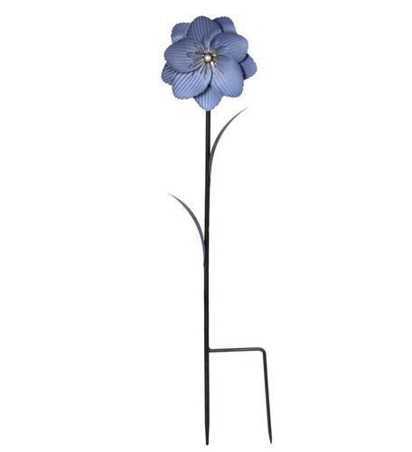 "29"" Blue Flower Garden Stake by Napco"
