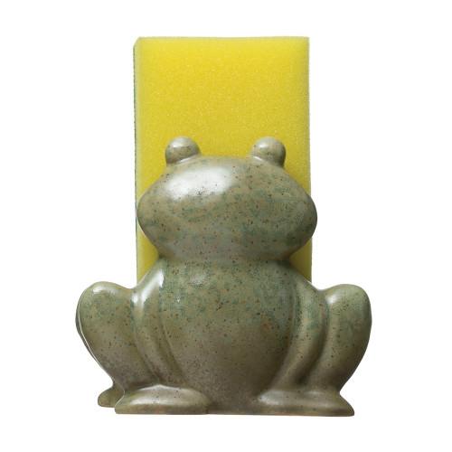 "4"" Stoneware Frog Sponge Holder by Creative Co-op"