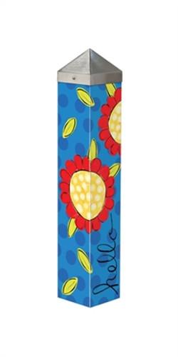 """Pop of Flowers 20""""  Art Pole"""