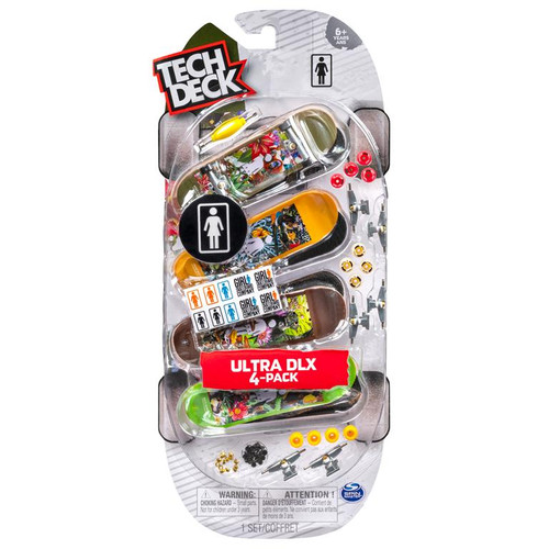 Tech Deck 4 Pack Fingerboard Assorted ~ Ages 6+