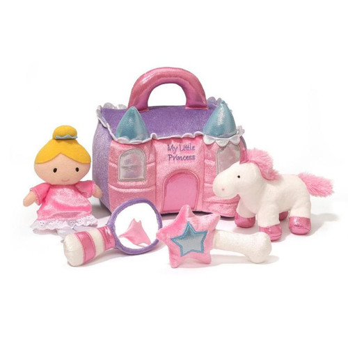 """8"""" My Little Princess Castle Play Set Plush  by GUND - Ages 3+"""