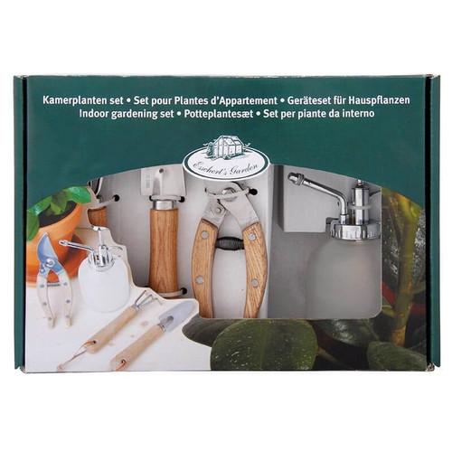 Indoor Garden Tool Set in Stainless Steel by Esschert Designs