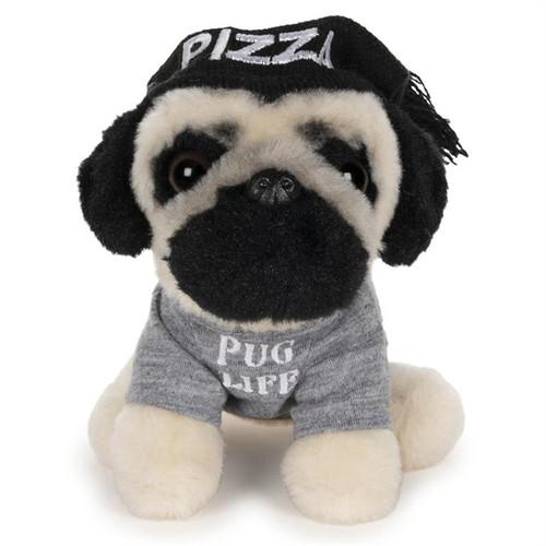 "5"" Doug The Pug Pizza Hat  Plush  by GUND"