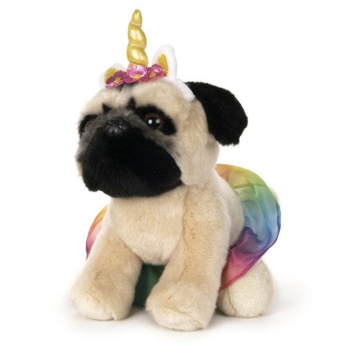 "9"" Doug the Pug Unicorn Tutu Plush  by GUND"