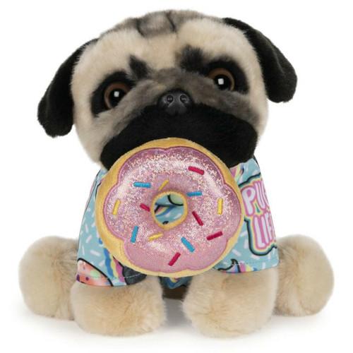 "9"" Doug the Pug Donut Plush  by GUND"