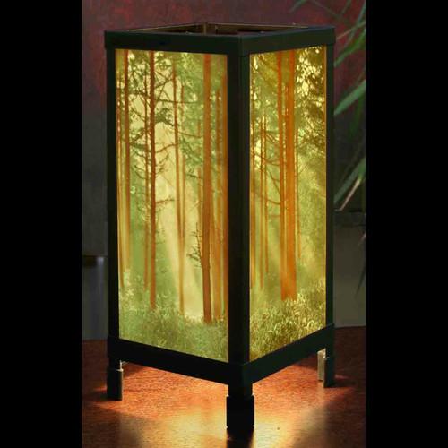 "13"" Colored Woodland Sunbeams Luminaire Lamp"