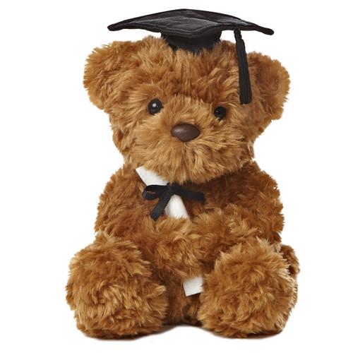 "8.5"" Wagner Bear Graduation-Black Cap by Aurora"