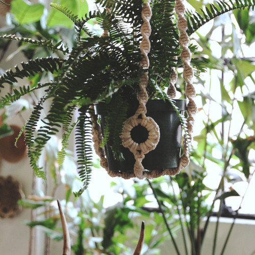 """39"""" Natural  Colored  Plant Hanger by Soul of the Party"""
