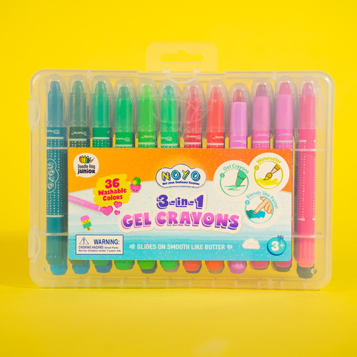 NOYO 36 Colors Gel Crayons for Toddlers and Kids!!~ Ages 8+