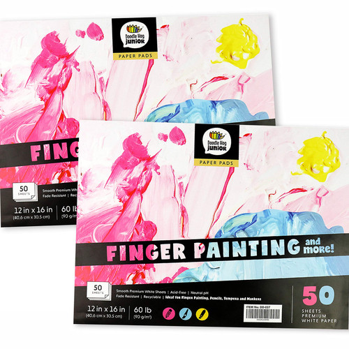 """2-Pack Large Drawing Sketch Pad for Kids-12"""" x 16"""", 50 Page"""