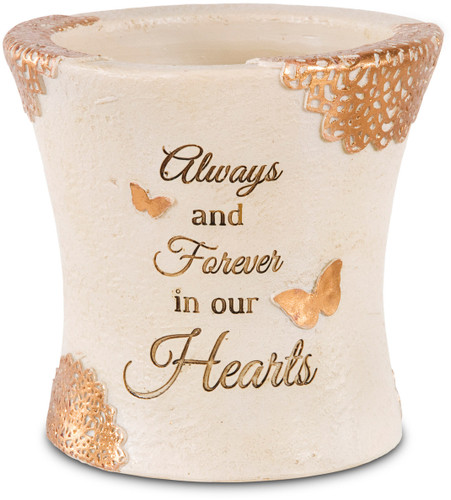 """4.5"""" Forever in Our Hearts ~ Small Memorial Vase"""