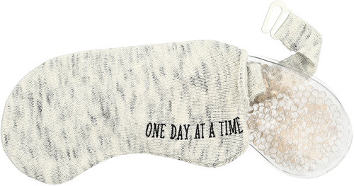 Knitted Eye Pillow ~ Hot or Cold Gel Compress ~ One Day at a Time...