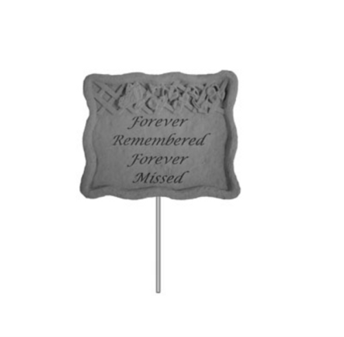 Garden Stake-Forever Remembered... Garden Stake ~ Memory Stone