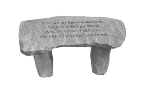 It broke my heart……Memory Stone Bench