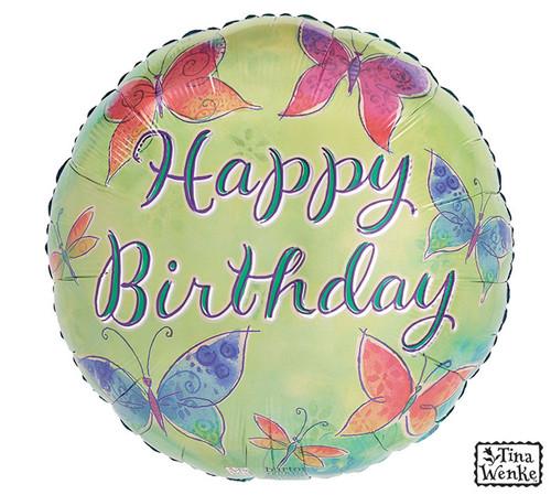 "17""PKG HAPPY BIRTHDAY BUTTERFLIES"