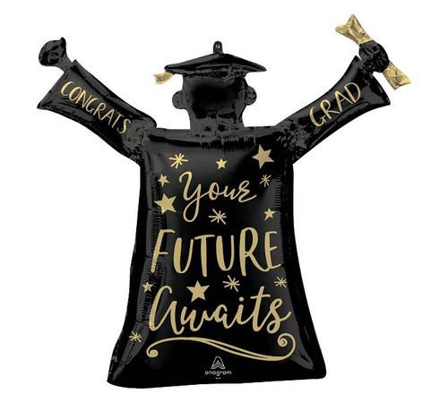 "29""PKG YOUR FUTURE AWAITS GRAD BALLOON"