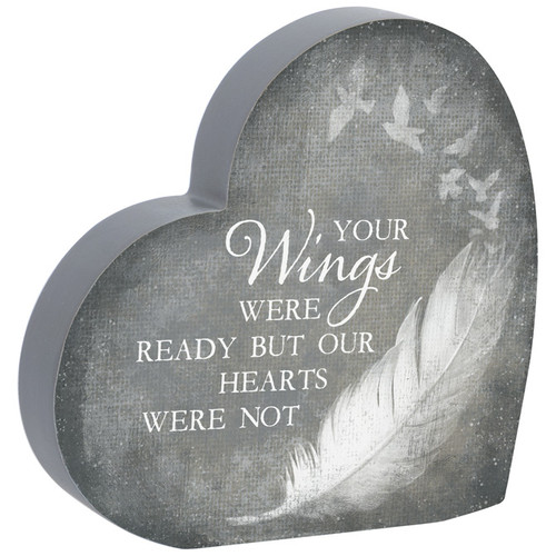 """""""Your Wings"""" Heart Sitter"""