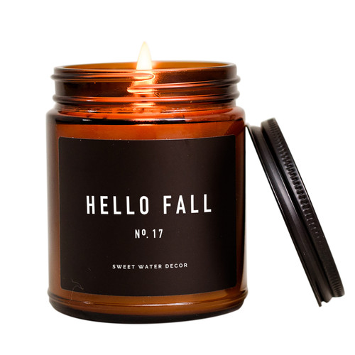 Hello Fall Soy Candle By Sweet Water Decor